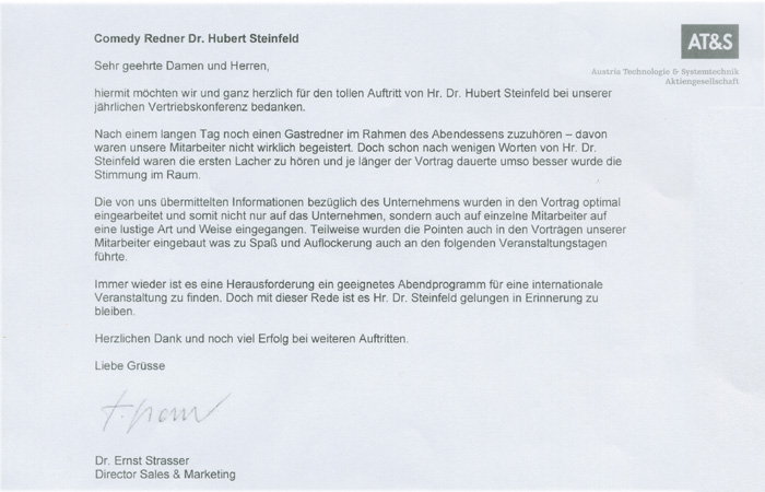 Best references comedy speech by dr wegmann for Inneneinrichter nrw